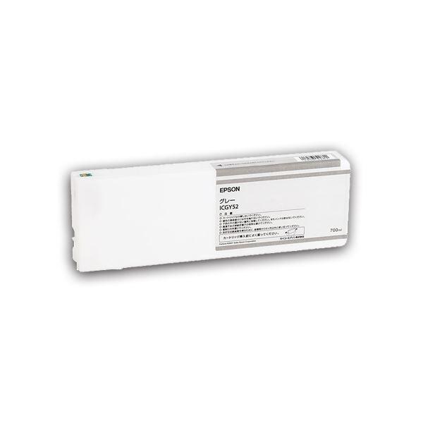 (まとめ) エプソン EPSON PX-P/K3(VM)インクカートリッジ グレー 700ml ICGY52 1個 【×3セット】