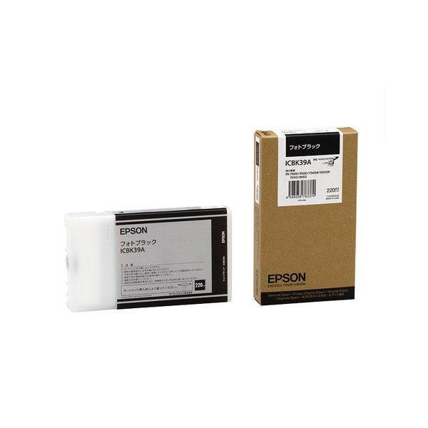 (まとめ) エプソン EPSON PX-P/K3インクカートリッジ フォトブラック 220ml ICBK39A 1個 【×3セット】