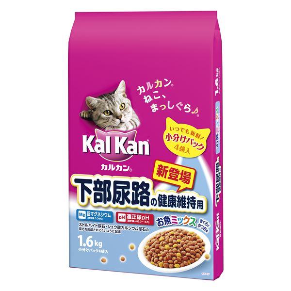 (まとめ)カルカン ドライ 下部尿路の健康維持用 お魚ミックス まぐろとかつお味 1.6kg【×6セット】【ペット用品・猫用フード】