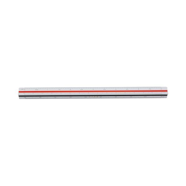 (まとめ)内田洋行 三角スケール 建築士用30cm 1-882-0601【×10セット】