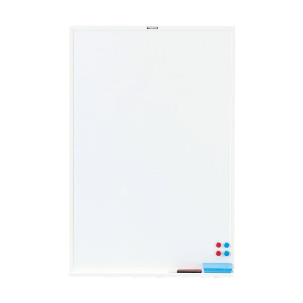TRUSCO スチール製ホワイトボード白暗線 900×600 黒 WGH-32SA-BL 1枚