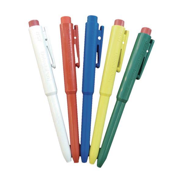 (まとめ) バーテック バーキンタ ボールペンJ802 本体:白 インク:赤 BCPN-J802 WR 66216101 1本 【×5セット】