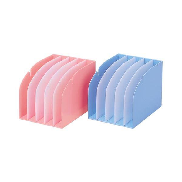 (まとめ) リヒトラブ カルテフォルダースタンド背幅214mm 仕切板4枚付 ブルー HK860-1 1個 【×5セット】