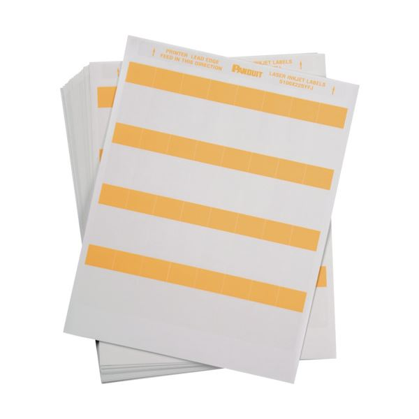 パンドウイットレーザープリンタ用セルフラミネートラベル オレンジ S100X225YFJ 1箱(1000枚)