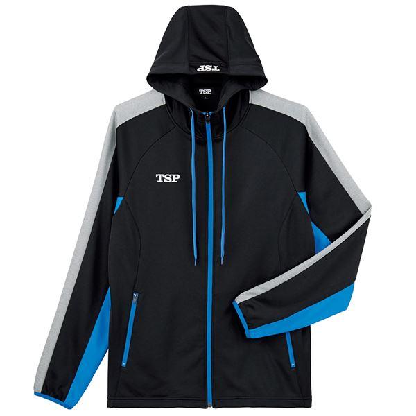 TSP(ティーエスピー) 卓球ウェア ウォームアップ TJ-191ジャケット ブラック×ブルー L