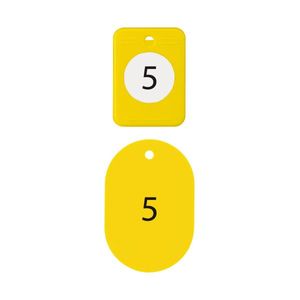 (まとめ)オープン工業 クロークチケット 1~20 黄BF-150-YE【×10セット】