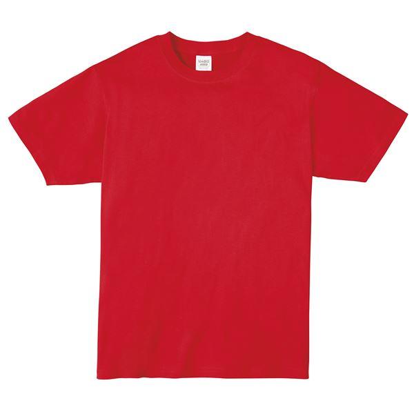 (まとめ)ATドライTシャツ 130cm レッド 150g ポリ100% 【×10個セット】