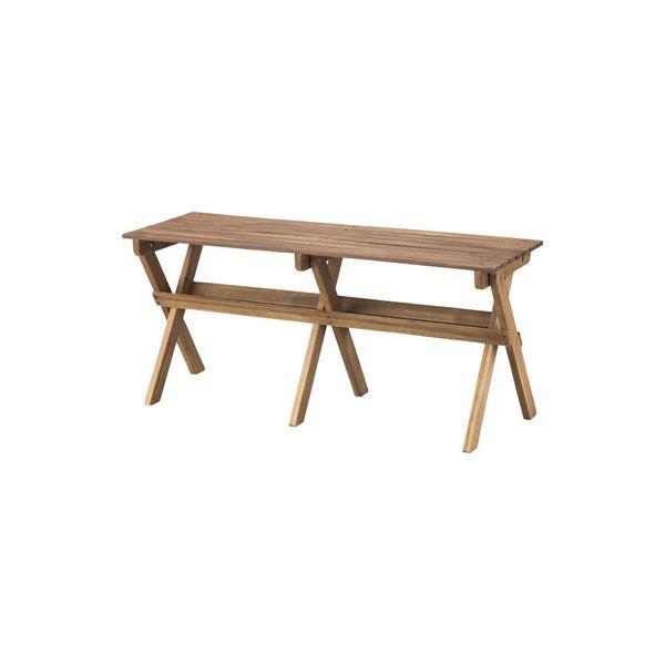 モダン 折りたたみベンチ/玄関椅子 【幅100cm】 木製 オイル仕上げ 〔リビング ダイニング 庭 テラス アウトドア〕