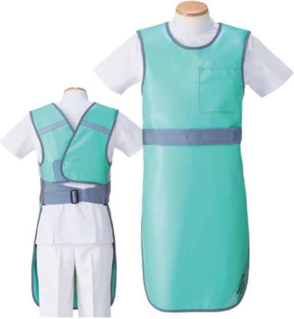 【送料無料】羽衣 放射線障害防護/X線防護 防護衣ベルト付きエプロン SLB-35S Sサイズ ソフライト(含鉛) カラー全7色  医療/病院/クリニック