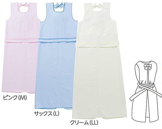日本エンゼル 入浴介助エプロン 毎週更新 ひもタイプ 6013 LLサイズ ピンク クリーム お風呂 介護 ホワイト 特別セール品 防水 サックス 乾燥機OK