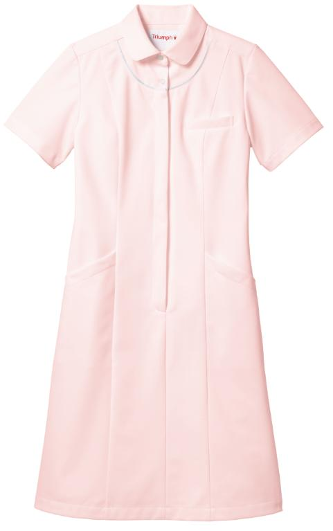 Triumph トリンプ女性用ワンピース TPF 204 ホワイト・サックス・ピンク病院 クリニック エステ サロン レディース 白衣29HYeWEIbD
