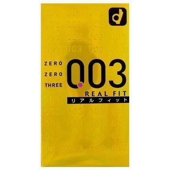 オカモト ゼロゼロスリー 003 リアルフィット10個 コンドーム 避妊具 10個入×12箱