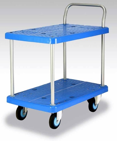 カナツー <ワイ(Y)シリーズ> テーブル2段式台車 PLA250Y-T2 250kgまで【代引き不可】