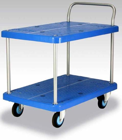 カナツー <ワイ(Y)シリーズ> テーブル2段式台車  PLA300Y-T2 300kgまで【代引き不可】