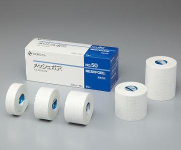 時間指定不可 NICHIBAN ニチバン メッシュポア NO.38 38mm×10m 不織布粘着包帯 8巻 むれにくい 固定しやすい 日本製