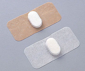 NICHIBAN nichiban stepty NO.80A beige 39 mm × 80 mm (adhesive) 27 mm x 15 mm (pad of) 50 cards compression hemostasis pad with adhesive plaster (wound protector) / sanitary / thick needles