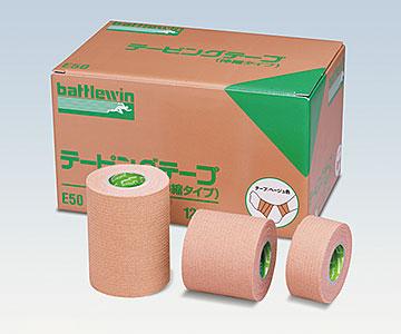 NICHIBAN ニチバン バトルウィン™ テーピングテープ E-タイプ(伸縮)E75 75mm×4m(伸長時) 1箱12巻 テーピング/ベージュ色/肘、膝、肩に適している