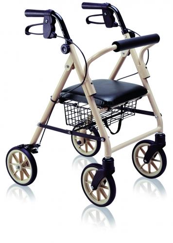 竹虎 ハッピーミニ  歩行車 安全性と信頼性に定評のあるハッピー2の軽量・コンパクトタイプ ミルクティーベージュ/パープルメタリック タケトラ