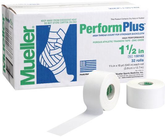Mueller(ミューラー) パフォームプラステープ50mm 130183 非伸縮コットンテープ 50mmx13.7m 1ケース24個入 テーピング