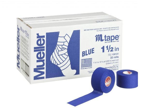 Mueller(ミューラー) Mテープチームカラー 非伸縮コットンテープ  38mmx9.1m ロイヤルブルー/グリーン/スカーレット/ゴールド/ブラック/オレンジ/パープル/ベージュ/マルーン/グレー/ピンク/ネイビーブルー 1ケース32個入 テーピング