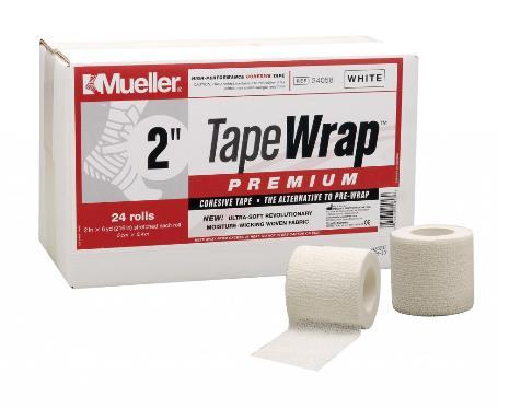 Mueller(ミューラー) テープラッププレミアム50mm 24058 自着性伸縮テープ 1ケース24個入 テーピング
