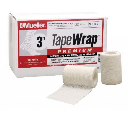 Mueller(ミューラー) テープラッププレミアム76mm 26059 自着性伸縮テープ 1ケース16個入 テーピング