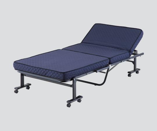 (代引き不可) A-60-BU 970×2000×440 高床式高反発折りたたみベッド