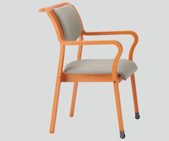 木製椅子(持ち手付きキャスタータイプ) MW-312(VG1) 角背