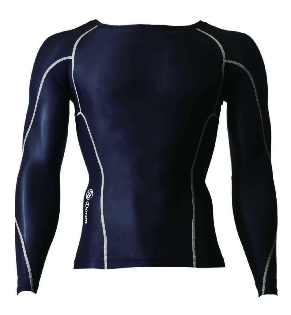 DORON (ドロン) LIFE Men's ロングスリーブシャツ ブラック D0000