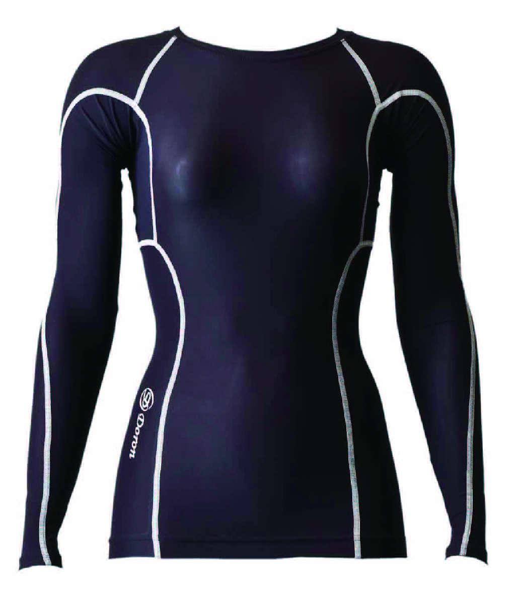 数量は多い  DORON (ドロン) LIFE DORON ブラック Women's ロングスリーブシャツ ブラック LIFE D0350, 今野園芸:570c873a --- canoncity.azurewebsites.net