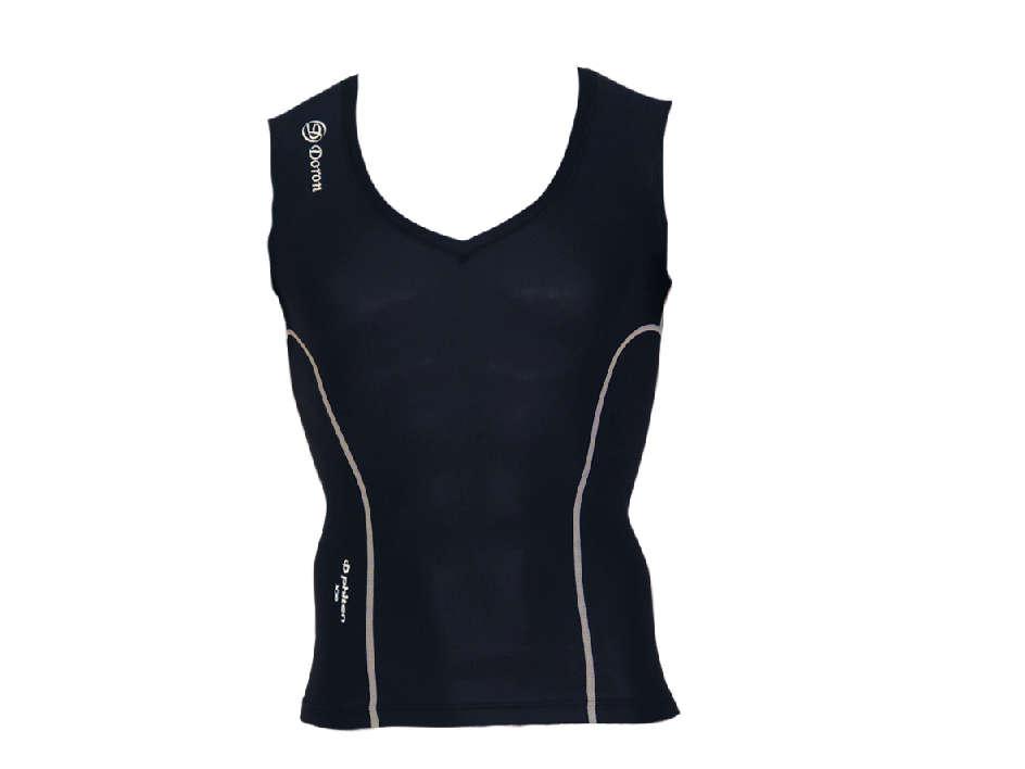 DORON (ドロン) LIFE Men's ブイネックシャツ ブラック D0400
