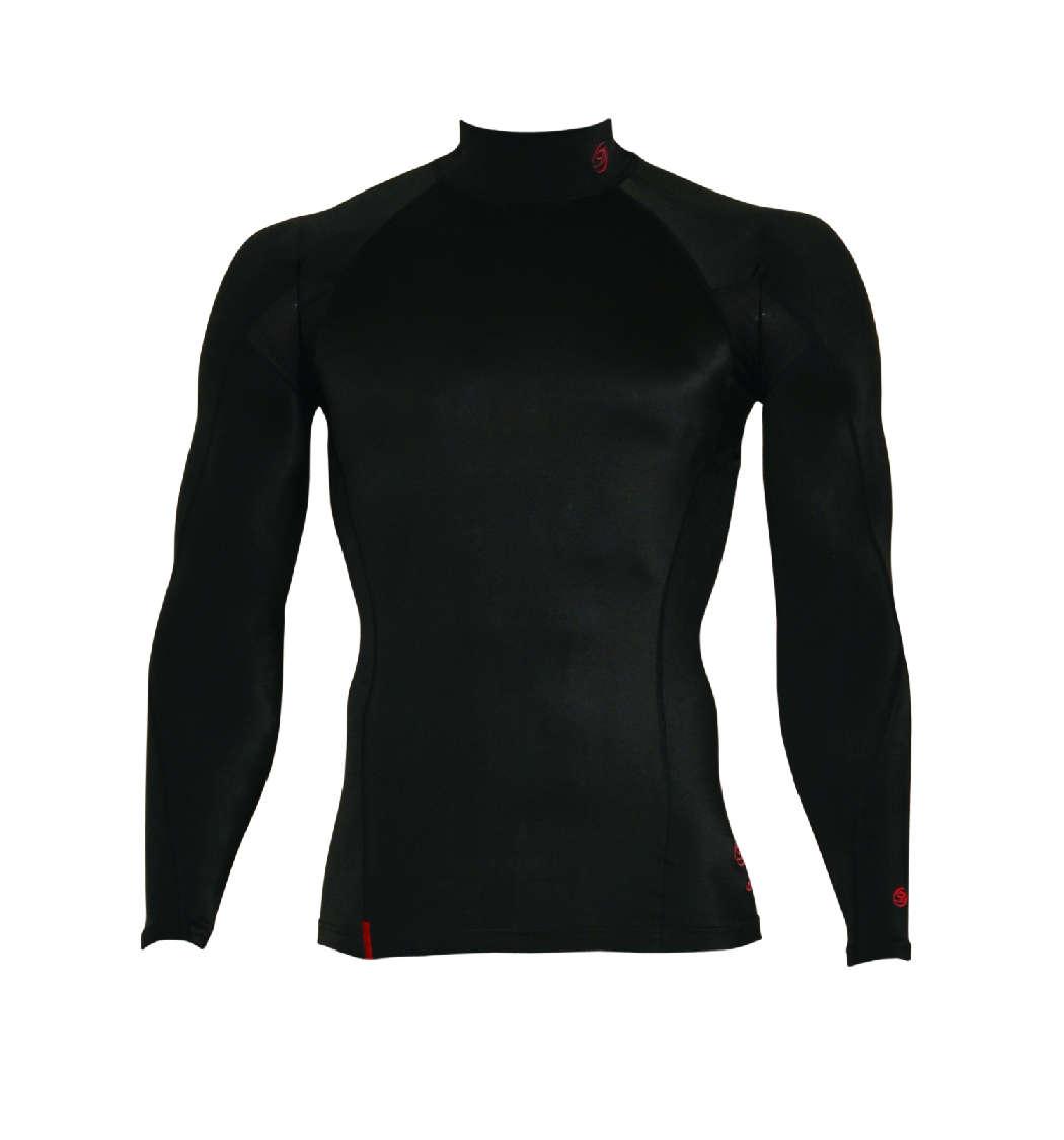 DORON (ドロン) SOFT Men's ハイネックシャツ ブラック D0700