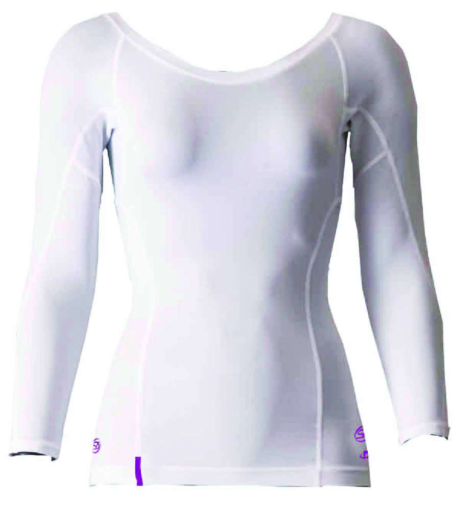 DORON (ドロン) SOFT Women's アンダーネックシャツ ホワイト D0830