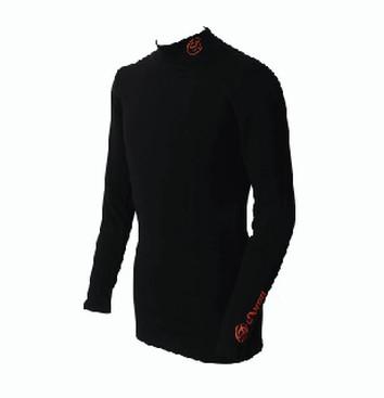 DORON (ドロン) WARM UNISEX ハイネックシャツ ブラック D1010