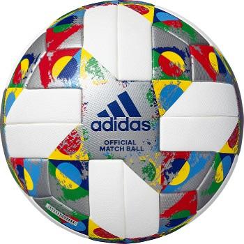 【ネーム加工可】アディダス adidas UEFA ネーションズリーグ サッカーボール 5号球 国際公認球 サーマルボンディング 人工皮革 芝用 化粧箱入り AF5540NL