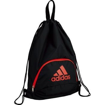 ネーム加工可 アディダス adidas 期間限定特価品 サック型 ボール用ナップ 横40×縦50cm メーカー公式ショップ 1個入れ サッカー AKM33RBK 黒×赤