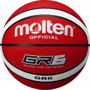 空気は入っていない状態でのお届けとなります 空気入れは別途ご用意・ご購入ください モルテン molten バスケットボール GR6 6号球 BGR6-RW レッド×ホワイト