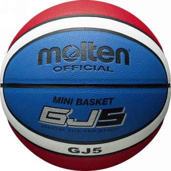 4年保証 ミニバスケットボール用 モルテン 新着セール molten バスケットボール GJ5 人工皮革 BGJ5C 5号球 貼り