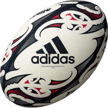 2021年アディダス新ラグビーボール アディダス adidas オールブラックス レプリカ 4号球 中古 ラグビーボール 縫い 送料0円 ゴム AR435AB