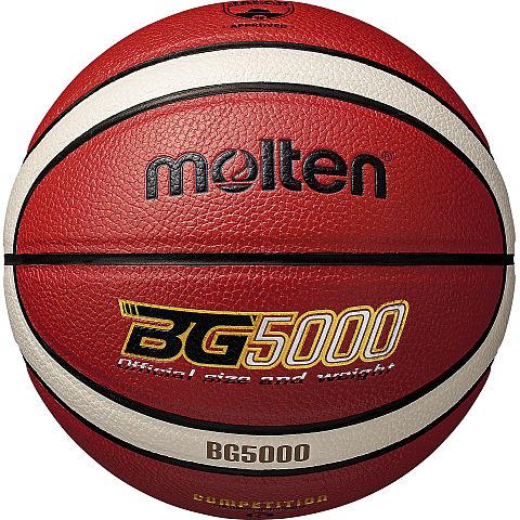 小学生用5号バスケットボール ネーム加工可 モルテン molten ついに再販開始 ミニバスケットボール用 BG5000 5号球 NEW 貼り B5G5000 人工皮革 検定球