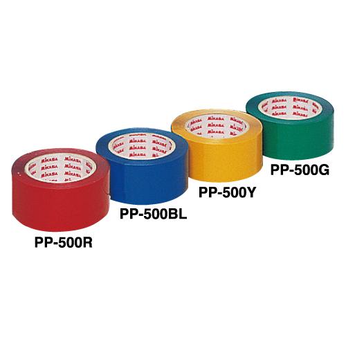 注目ブランド ラインテープといえばミカサでしょ ミカサ MIKASA 激安卸販売新品 ラインテープ レッド 赤 幅50mm×長さ50m 2巻入 直線用 専用カッター付 伸びないタイプ PP-500R