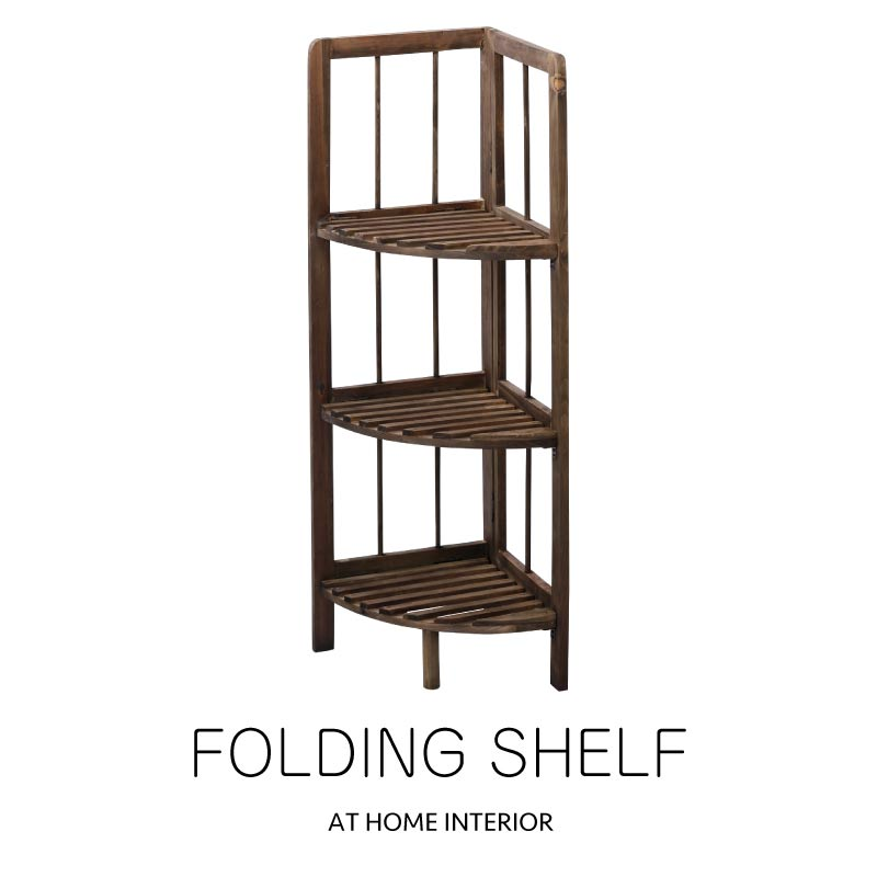 Fabulous Folding Shelf Corner Shelf Shelf Shelf Folding Type Corner Rack Wooden Tree Brown Download Free Architecture Designs Itiscsunscenecom