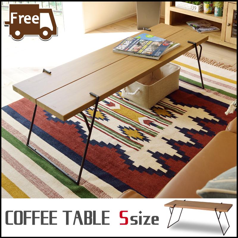 【お盆セール開催中】Sサイズ コーヒーテーブル ローテーブル ブラウン アイアン センターテーブル テーブル 木製 木目 カフェ ディスプレイ台 花台 おしゃれ