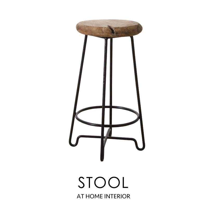 ハイスツール ウッドスツール 背もたれなし アイアン イス 椅子 サイドテーブル 無垢材 ディスプレイ台 玄関 天然木 木製 おしゃれ 北欧 シンプル