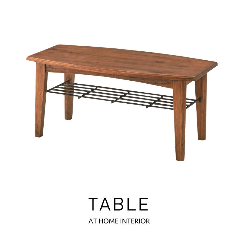 【本日5日はポイント10倍】【センターテーブル おしゃれ セール】センターテーブルS コーヒーテーブル テーブル リビング 棚付き 木製 天然木 ブラウン ホワイト おしゃれ 母の日