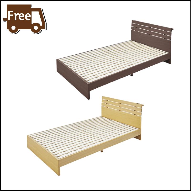 【本日5日はポイント10倍】セミダブルベッド フレーム 2人用ベッド すのこベッド 木製 北欧 西海岸 ブラウン ナチュラル おしゃれ 母の日