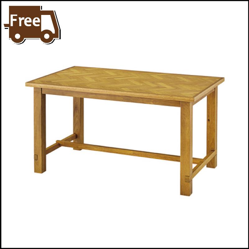 【お得な週末クーポン配布中】【ダイニング おしゃれ セール】クーパス ダイニングテーブル テーブル 4人用 ヘリンボーン オーク 木製 天然木 棚付き 北欧 西海岸 おしゃれ