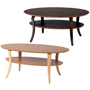 幅100cm オーバルテーブル センターテーブル リビングテーブル 木製 楕円形 レトロ モダン