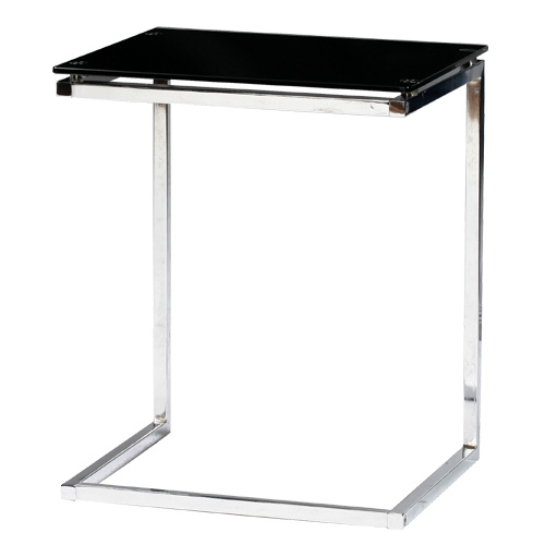 【本日5日はポイント10倍】サイドテーブル ガラステーブル おしゃれ ブラック 黒 透明 クリア 母の日 テレワーク 在宅勤務