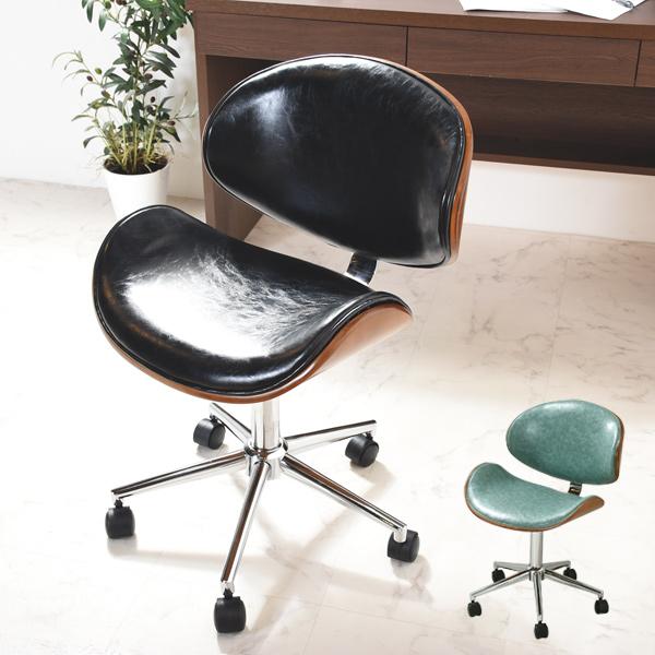 デスクチェア エコチェア キャスター付き チェア 椅子 いす イス チェアー オフィスチェア キャスター 回転式 高さ調節 シンプル ワンルーム 1人暮らし 新生活 テレワーク 在宅勤務